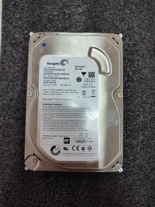 Продам Жесткий диск HDD Seagate Barracuda 7200, 500gb б\у