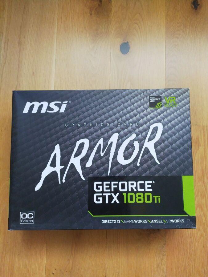 Новая! Видеокарта MSI GeForce GTX 1080 Ti ARMOR 11G