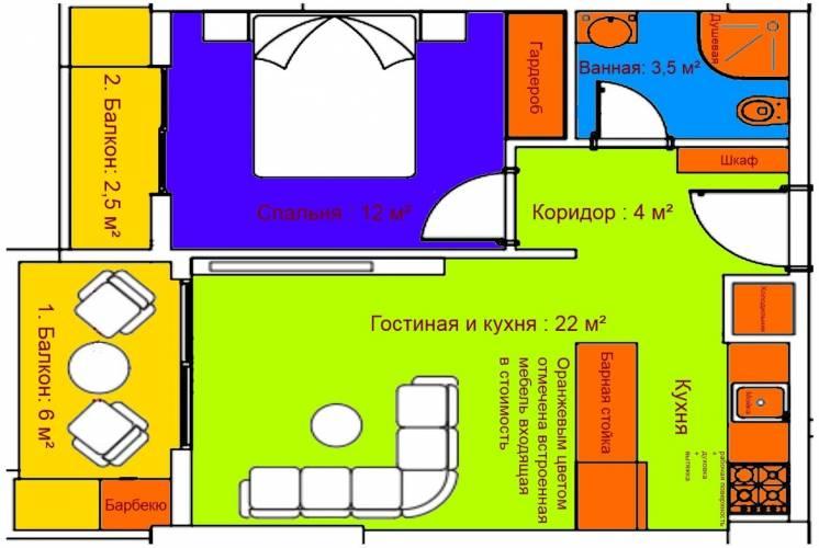 Продам 2-х комнатную квартиру в Турции.