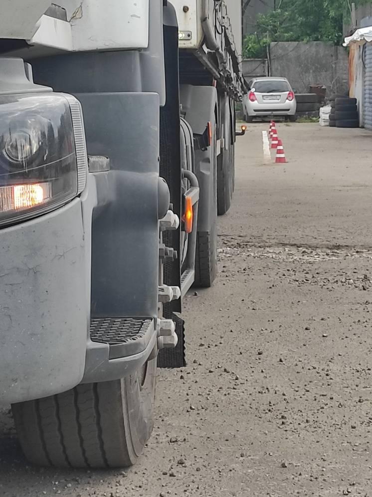 Уроки вождения на фуре категория С+Е на тягаче Renault Premium