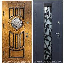Вхідні Двері у будинок серія Ковка