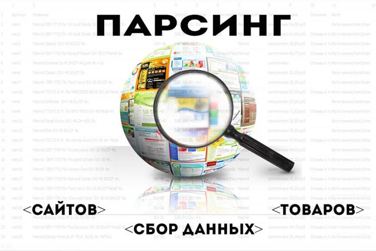 Парсинг данных, сайтов, контактов, товаров и тд