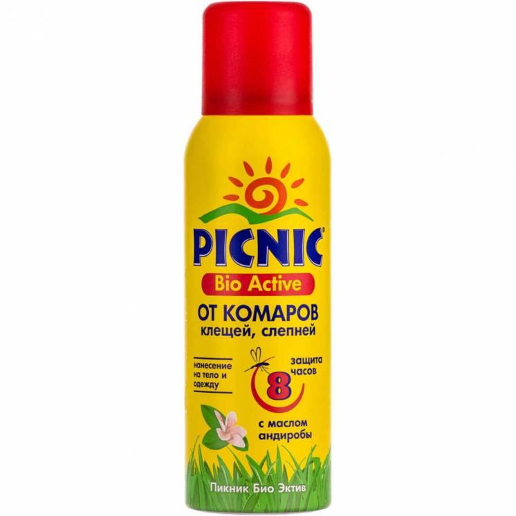 Аерозоль від комарів і кліщів Picnic Bio Active 125 мл