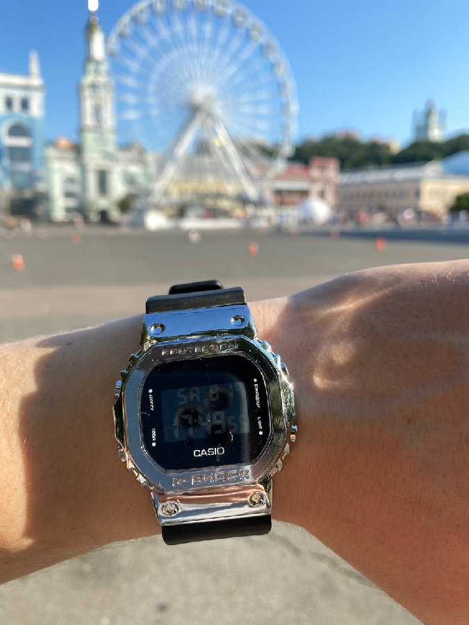 Спортивные наручные часы Casio G-Shock-3229 Black-Silver Без предоплат