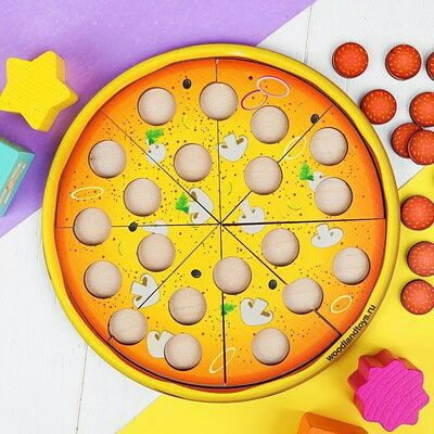 Обучающая счёту Деревянная мозаика Пицца