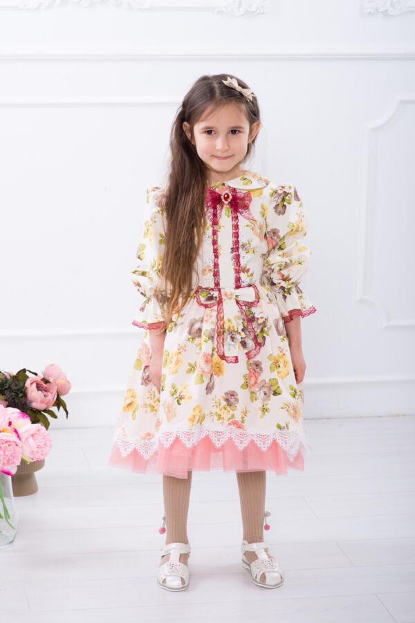 Нарядное пышное детское платье, платье праздник осени