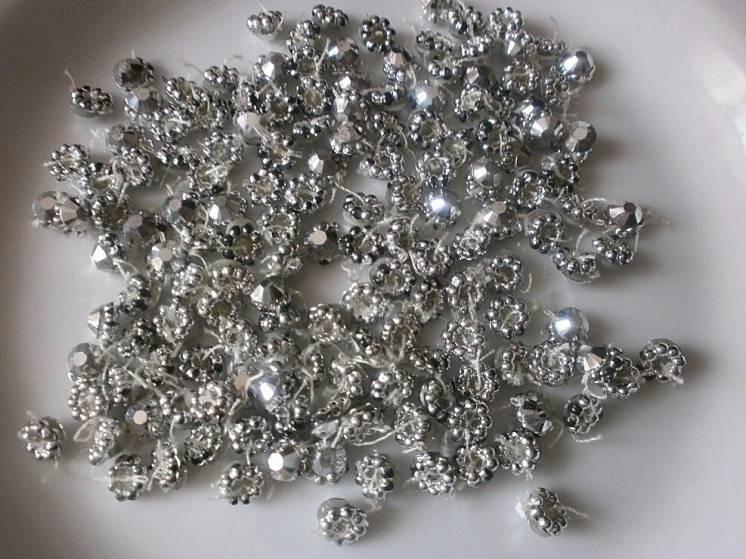 Декор Цветок под серебро Для рукоделия, поделок