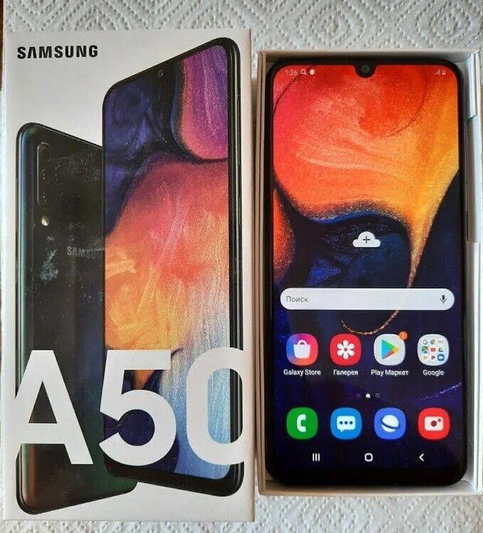 Телефон Samsung Galaxy A50 128 Gb