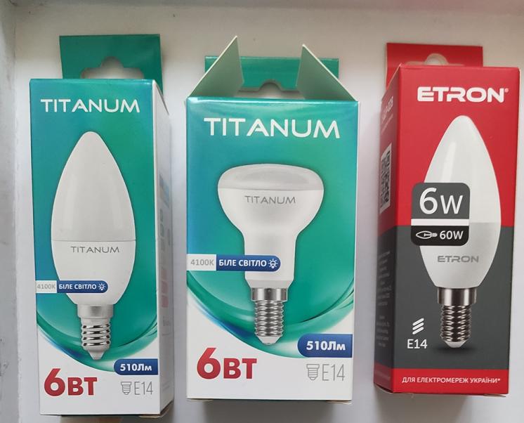 Светодиодная лампы, E14 6W