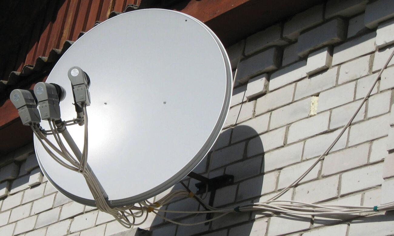 Спутниковая антенна на 3 спутника с ресивером