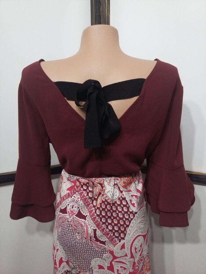 Блуза Primark с рукавами раструбами и бантом на спинке