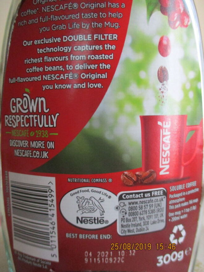 Nescafe Original 300g стекло из Bеликобритании 5