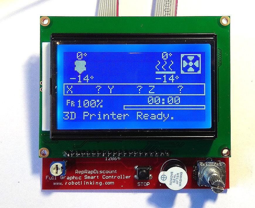 Дисплей Lcd 12864 Reprapdiscount Smart Controller экран