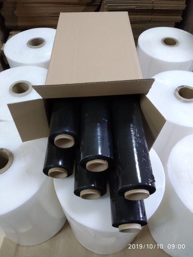 Стрейч плівка чорного кольору 20 мкм 2,2 кг(брутто)
