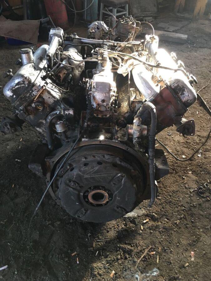 Продам двигатель ямз 236 с навесным, коробка, радиатор