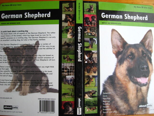 Книга немецкая овчарка, содержание, тренировки, дрессировка, на англ.