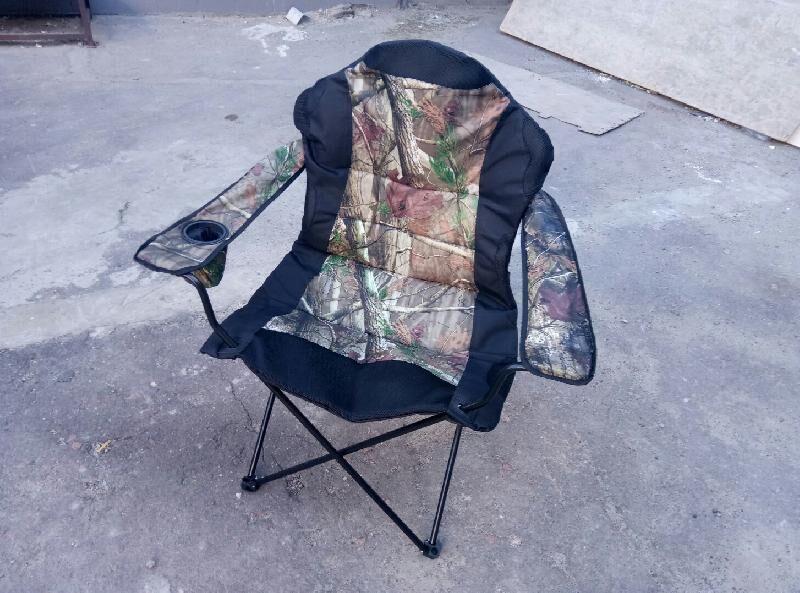 Раскладной стул до 120 кг для отдыха и рыбалки