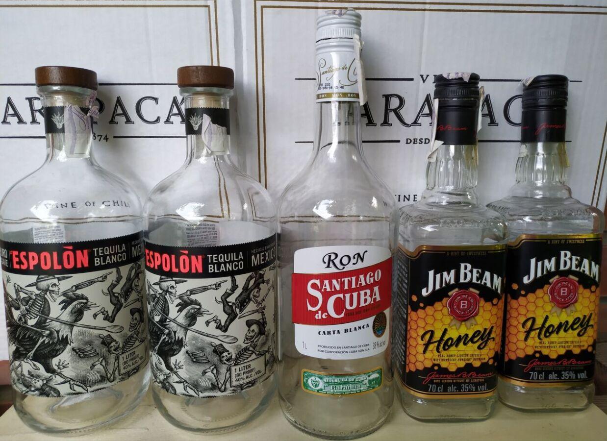 Бутылки от разных напитков