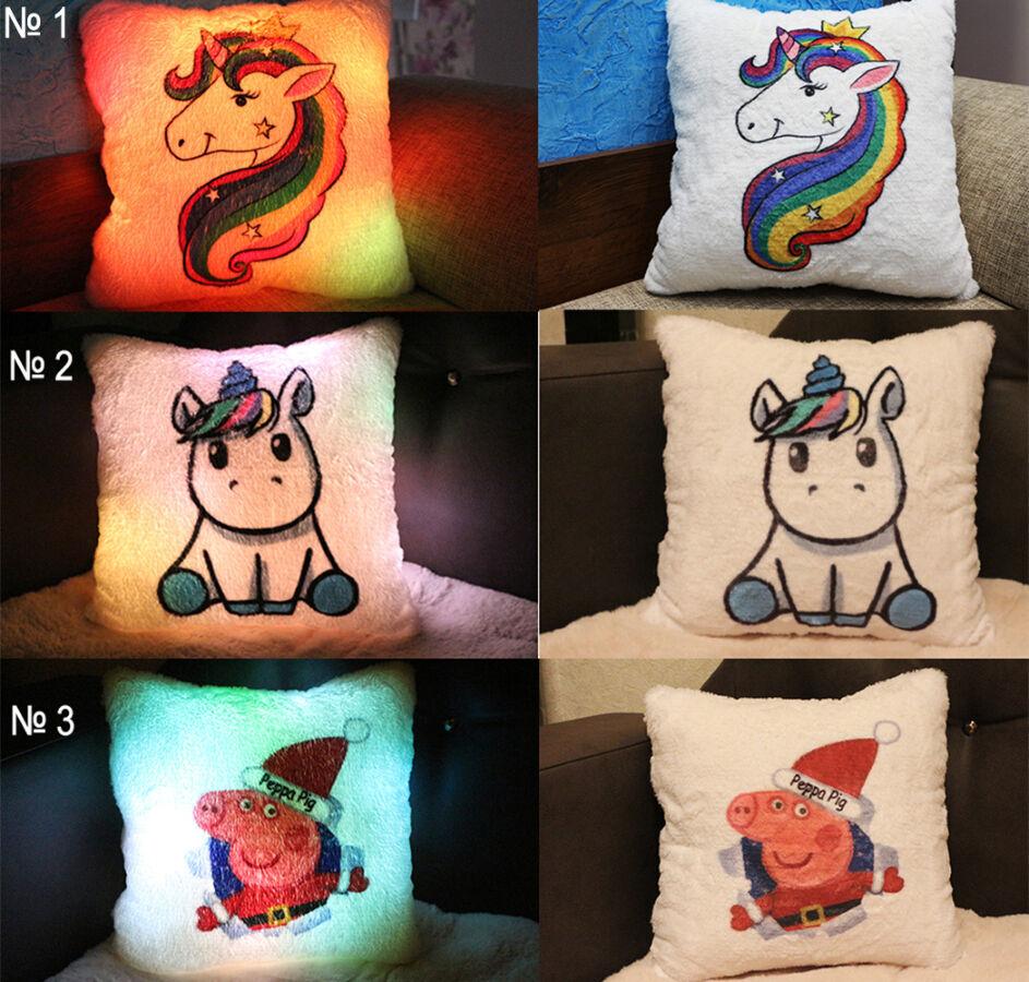 Улетный подарок ребёнку - подушка-ночник с героями из мультфильмов.