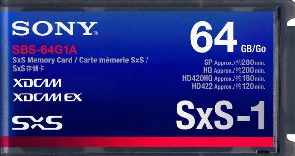 Новая карта памяти Xdcam Sxs-1 Sony Sbs-64g1a