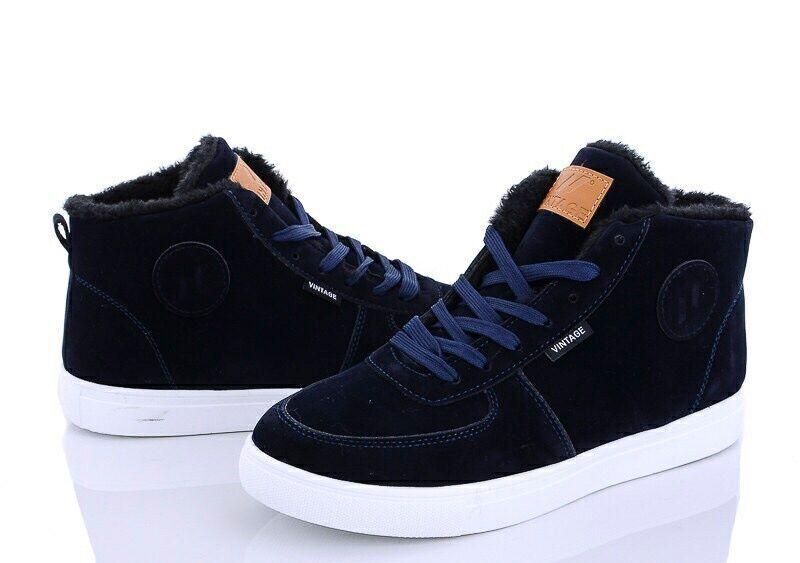 Стильные ботинки на меху Vintage
