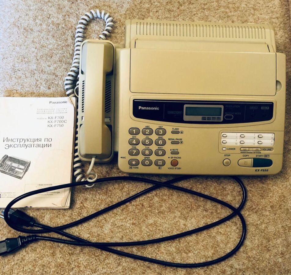 Факс Panasonic Kx-f550 (+ факс-бумага)