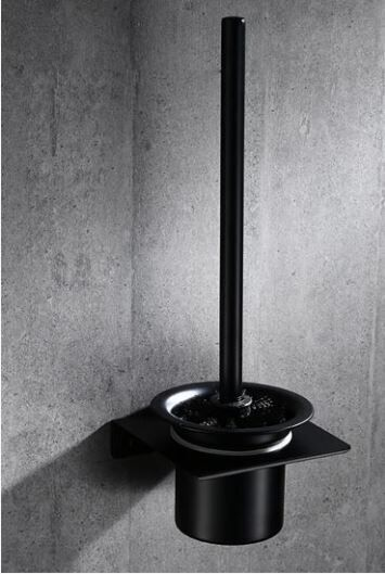Ершик для унитаза настенный подвесной черный 0779