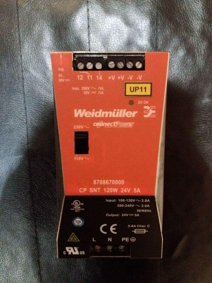 Источник питания Weidmuller Cp Snt 120w 24v 5a