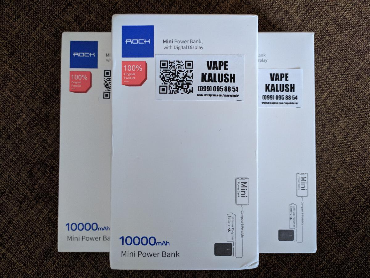 Power Bank Rock 10000mah павер банк акумулятор батарея зарядка