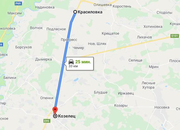 Участок на трассе с.Красиловка Козелецкого р-н