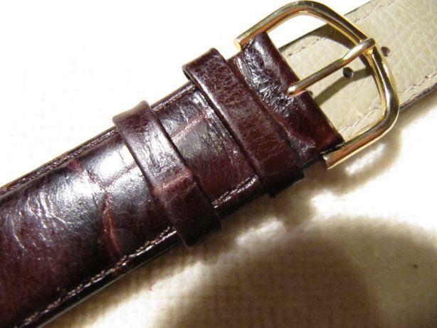 Кожаный ремешок для часов 22 мм,прошитый,новый, Польша