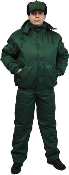Куртка рабочая утепленная зеленая флис форма, спецодежда