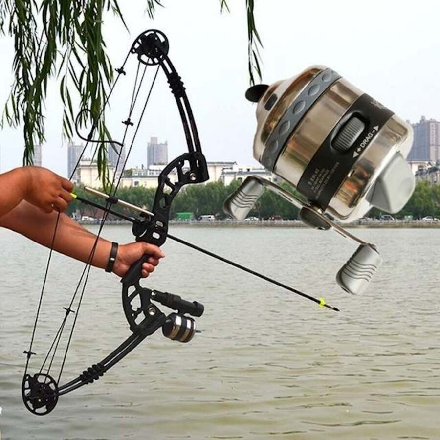 Катушка Большая Премиум  BL40 рыболовная Slingshot  Рогатка Лук
