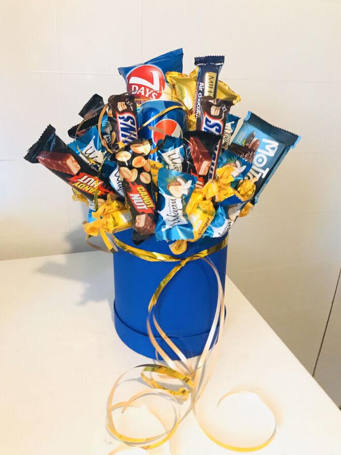 Букетики з цукерок та пивні