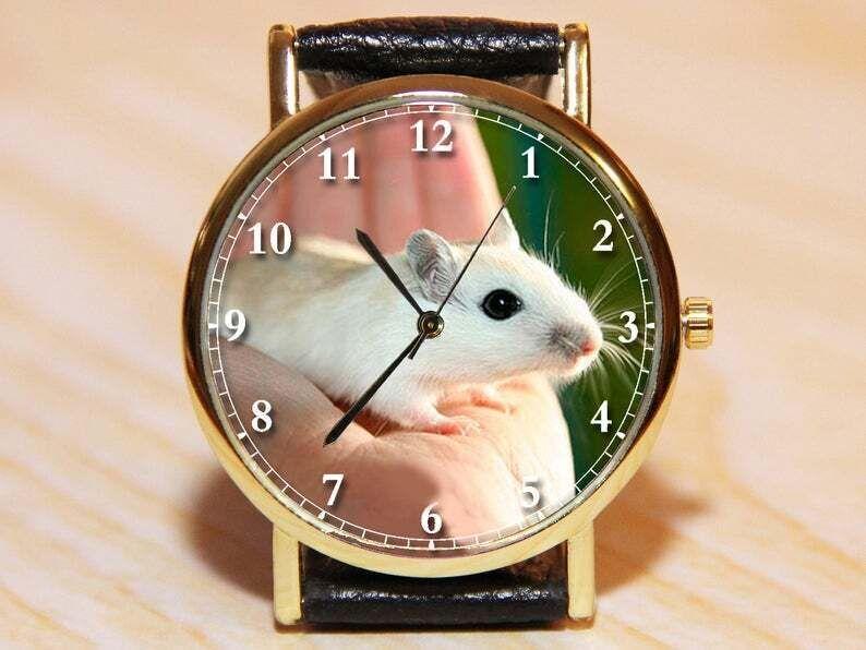 Наручные часы мышь, новогодние часы, женские часы, детские часы