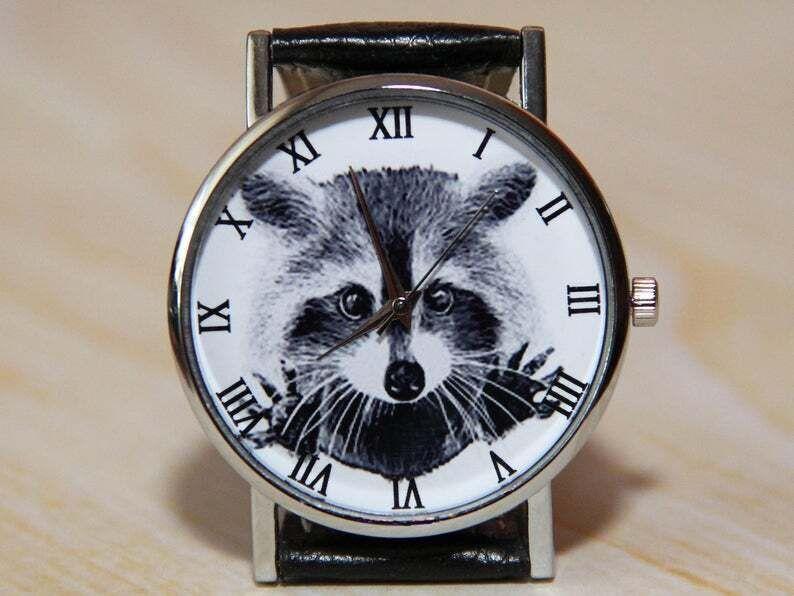Наручные часы енот, женские часы, мужские часы, детские часы