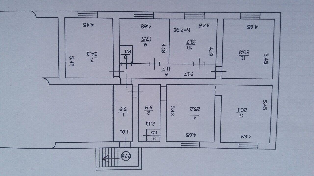 Помещение под офис, хостел, магазин. 72000 S.