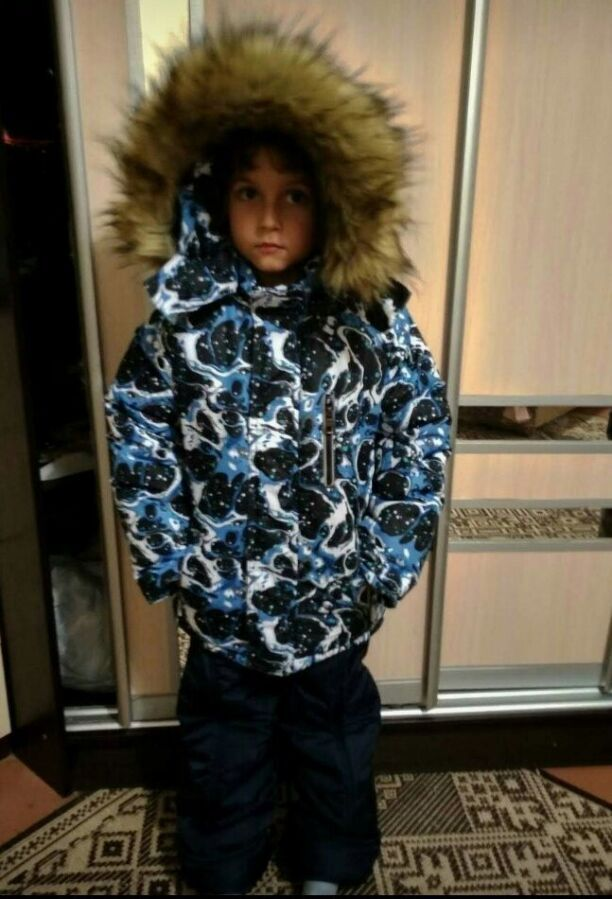 Детский зимний комбинезон термо+ холлофайбер+ флис рост 86 - 140 см