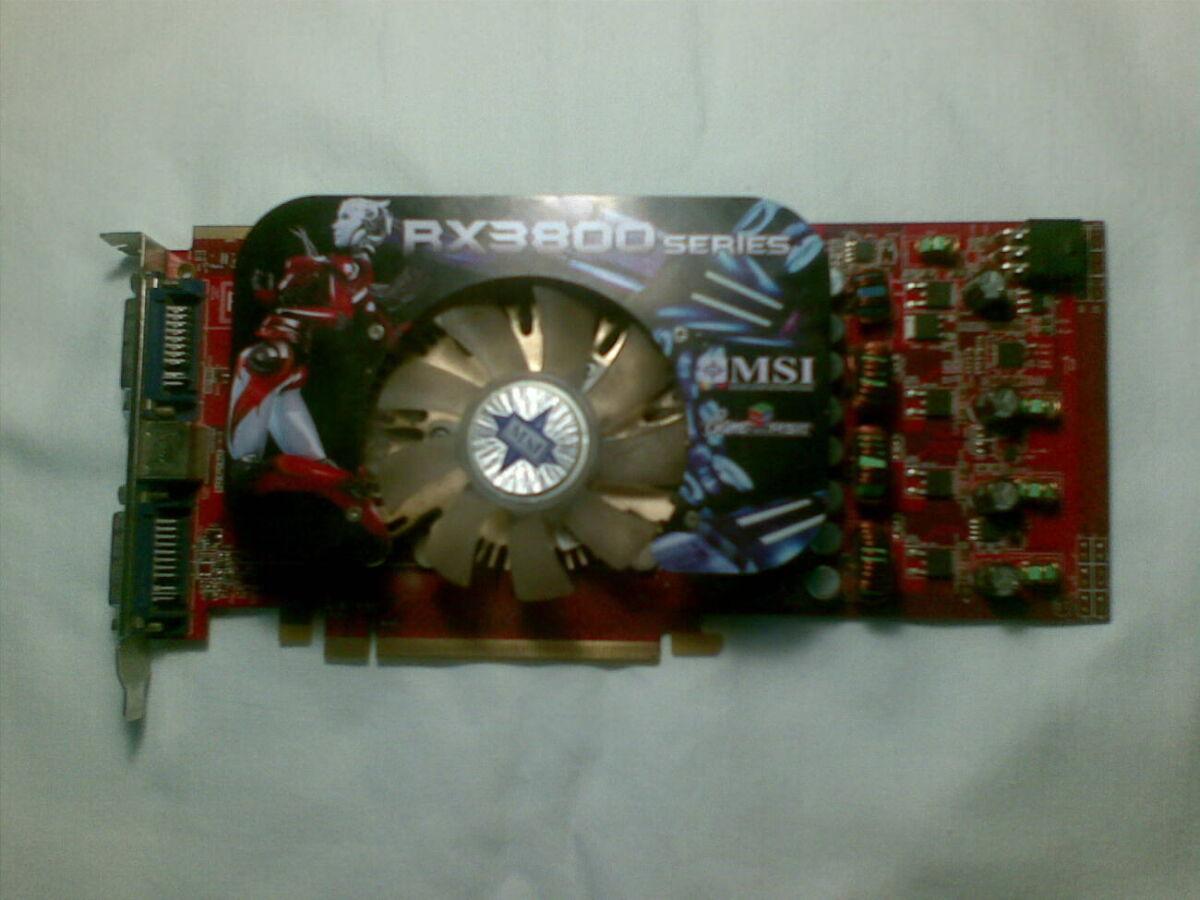Продам видеокарту MSI RX3850-T2D512E