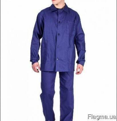 Костюм рабочий, диагональ, брюки и куртка,синий, спецодежда
