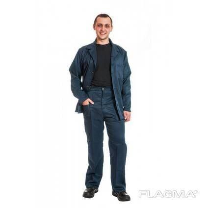 Рабочий костюм,грета, синий и зеленый цвет, спецодежда, опт