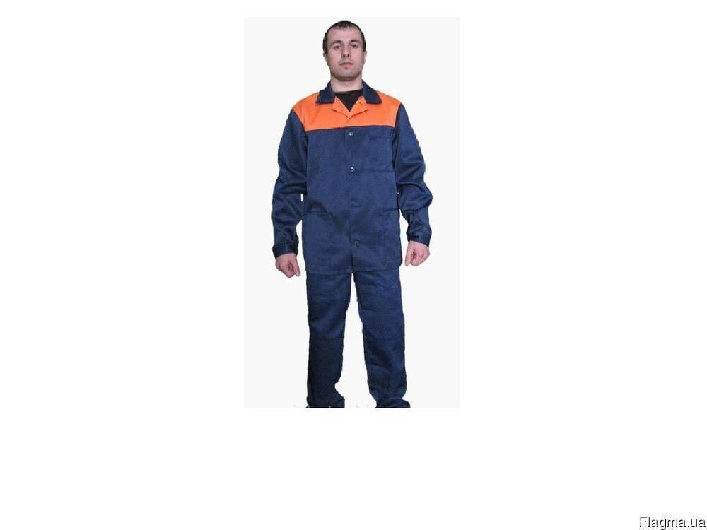 Костюм рабочий, синий с оранжевым, грета, форма опт