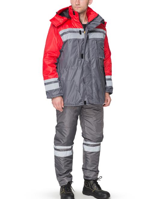 Костюм утепленный из плащевой ткани курточка и полукомбинезон