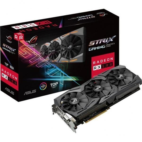 Видеокарта ASUS Radeon RX 580 8gb ROG STRIX GAMING TOP