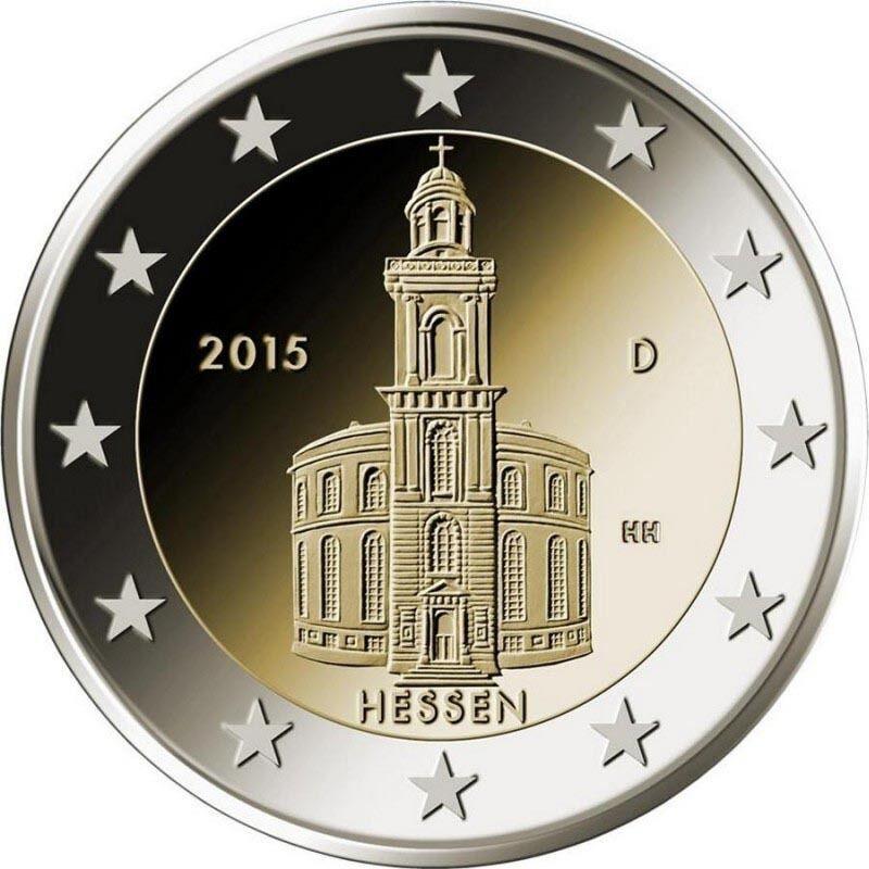 Германия 2 евро 2015 г. Гессен