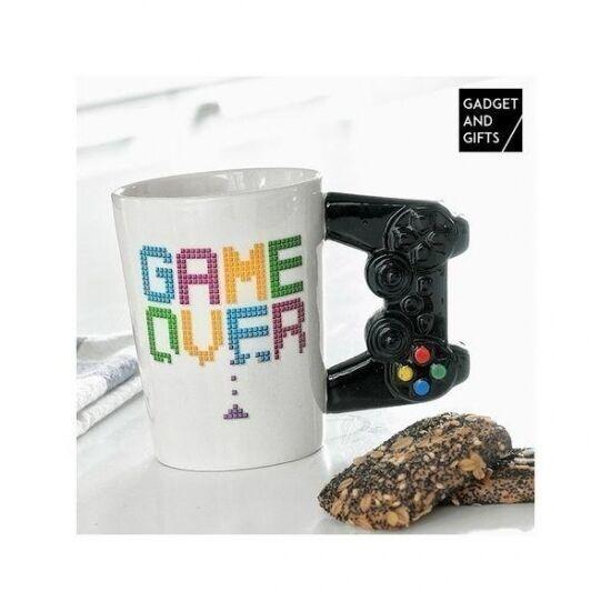 Подарок для геймеров Керамическая Чашка Game Over White
