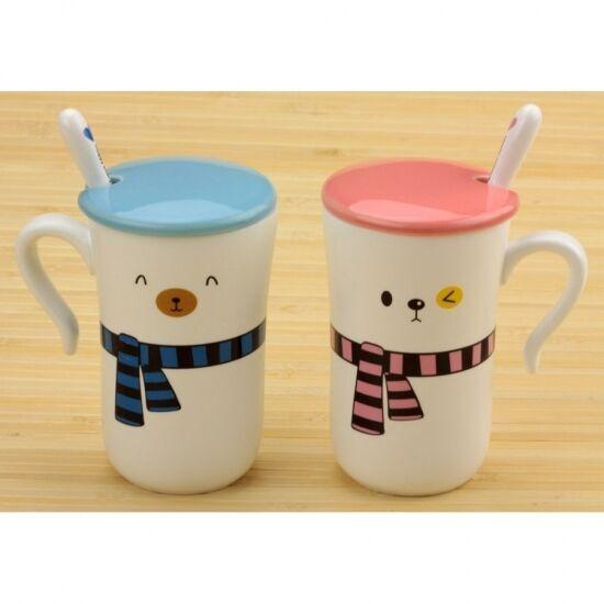 Подарочный набор Чашки Happy everyday с шарфиками 2 шт