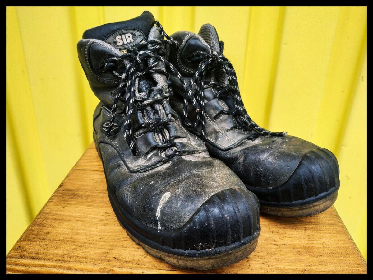 Кожаные рабочие ботинки