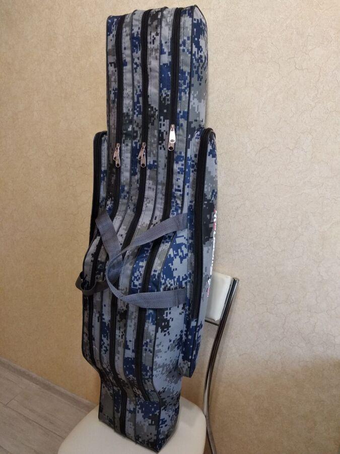 Чехол для удилищ под катушки 110 см на 3 отделения