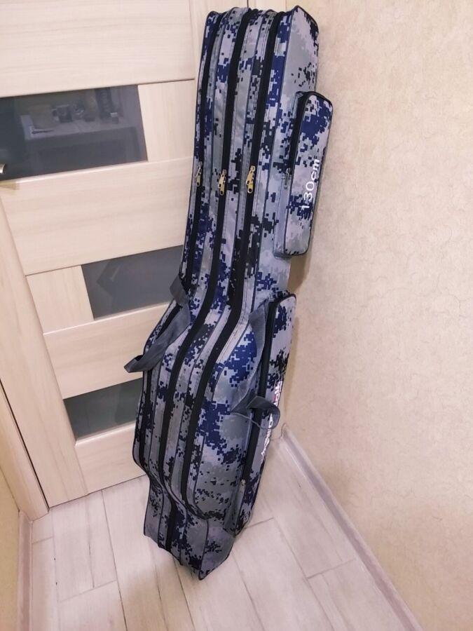 Чехол для удилищ под катушки 130 см на 3 отделения